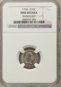Early Half Dimes, 1794 H10C -- Damaged -- NGC Details. Fine. V-4, LM-4, R.4....