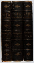 Books:Literature Pre-1900, Charles Knight [editor]. The Works of Shakspere[Shakespeare]. Vol. I-III. Virtue, [n. d.]. Imperial edition.Fo... (Total: 3 Items)