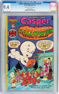 Bronze Age (1970-1979):Cartoon Character, Casper Halloween Trick or Treat #1 (Harvey, 1976) CGC NM 9.4Off-white to white pages....