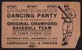 "Baseball Collectibles:Tickets, 1910 African American ""Original Crawfords"" Baseball InvitationTicket - Pre Dates The Negro League...."