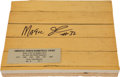 Basketball Collectibles:Others, Magic Johnson Signed Piece of Forum Floor....