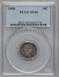 Barber Dimes: , 1898 10C XF40 PCGS. PCGS Population (3/494). NGC Census: (1/418).Mintage: 16,320,735. Numismedia Wsl. Price for problem fr...