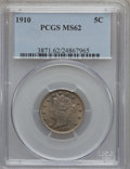 Liberty Nickels: , 1910 5C MS62 PCGS. PCGS Population (89/487). NGC Census: (80/413).Mintage: 30,169,352. Numismedia Wsl. Price for problem f...