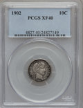 Barber Dimes: , 1902 10C XF40 PCGS. PCGS Population (5/198). NGC Census: (0/184).Mintage: 21,380,776. Numismedia Wsl. Price for problem fr...