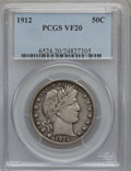 Barber Half Dollars: , 1912 50C VF20 PCGS. PCGS Population (21/443). NGC Census: (3/289).Mintage: 1,550,700. Numismedia Wsl. Price for problem fr...