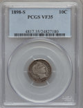Barber Dimes: , 1898-S 10C VF35 PCGS. PCGS Population (4/91). NGC Census: (0/46).Mintage: 1,702,507. Numismedia Wsl. Price for problem fre...
