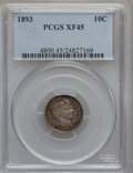Barber Dimes: , 1893 10C XF45 PCGS. PCGS Population (5/271). NGC Census: (1/248).Mintage: 3,340,792. Numismedia Wsl. Price for problem fre...
