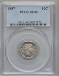 Barber Dimes: , 1897 10C XF45 PCGS. PCGS Population (4/407). NGC Census: (0/378).Mintage: 10,869,264. Numismedia Wsl. Price for problem fr...