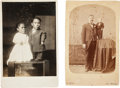 Photography:Cabinet Photos, Cabinet Cards of Midgets.... (Total: 2 Items)