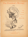Political:Small Paper (pre-1896), Grover Cleveland: Thomas Nast Illustrated Booklet. ...