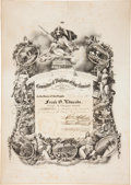 Western Expansion:Goldrush, Gold Rush-Era San Francisco Committee of Vigilance MembershipCertificate....