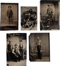Photography:Tintypes, The Old West: Five Tintypes.... (Total: 5 Items)
