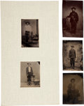 Photography:Tintypes, The Old West: Five Tintype Studio Portraits.... (Total: 4 Items)