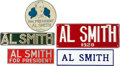 Political:3D & Other Display (1896-present), Al Smith: Five Quality License Plates.... (Total: 5 Items)