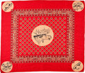 Political:Textile Display (1896-present), Theodore Roosevelt: Fine Silk Hat in the Ring Bandanna....