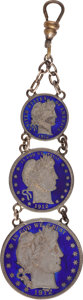 Political:Tokens & Medals, Numismatics: Enameled Coin Jewelry....