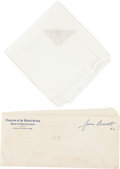 Political:Textile Display (1896-present), Franklin D. Roosevelt: Personally-Owned Handkerchief....