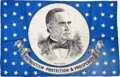 Political:Textile Display (1896-present), William McKinley: Lovely Silk Campaign Flag....