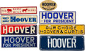 Political:3D & Other Display (1896-present), Herbert Hoover: Eight License Plates.... (Total: 8 Items)