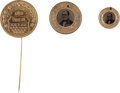 Political:Ferrotypes / Photo Badges (pre-1896), John Bell: Three 1860 Campaign Items.... (Total: 3 Items)