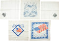 Political:Textile Display (pre-1896), Benjamin Harrison and William McKinley: Five Silk Textiles....(Total: 5 Items)