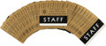Political:Ribbons & Badges, John F. Kennedy: Texas Welcome Dinner Staff Badge Inserts....