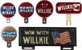 Political:3D & Other Display (1896-present), Wendell Willkie: License Plate and Tags.... (Total: 6 Items)