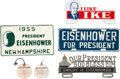 Political:3D & Other Display (1896-present), Dwight D. Eisenhower: License Plates and Press Tags.... (Total: 6 Items)