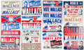 Political:3D & Other Display (pre-1896), George Wallace: Loads of License Plates.... (Total: 27 Items)