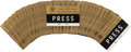 Political:Ribbons & Badges, John F. Kennedy: Texas Welcome Dinner Press Badge Inserts....