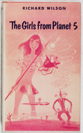 Books:Science Fiction & Fantasy, Richard Wilson. INSCRIBED. The Girls from Planet 5. Ballantine, 1955. First edition, first printing. Signed and in...