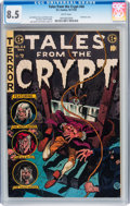 Golden Age (1938-1955):Horror, Tales From the Crypt #44 (EC, 1954) CGC VF+ 8.5 White pages....