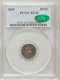 Seated Half Dimes: , 1845 H10C XF40 PCGS. CAC. PCGS Population (7/192). NGC Census:(2/198). Mintage: 1,564,000. Numismedia Wsl. Price for probl...