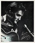 Music Memorabilia:Autographs and Signed Items, Elvis Presley Autographed Publicity Photo (1970)....