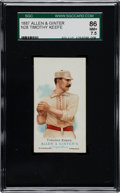 Baseball Cards:Singles (Pre-1930), 1887 N28 Allen & Ginter Timothy Keefe SGC 86 NM+ 7.5- TheFinest SGC Example! ...