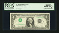 Error Notes:Inverted Third Printings, Fr. 1907-B $1 1969D Federal Reserve Note. PCGS Choice New 63PPQ.....