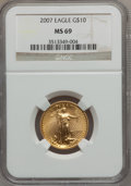 Modern Bullion Coins, 2007 $10 Quarter-Ounce Gold Eagle MS69 NGC. PCGS Population(95/33). Numismedia Wsl. Price for problem ...