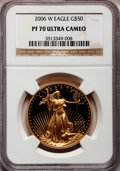 Modern Bullion Coins, 2006-W $50 One-Ounce Gold Eagle PR70 Ultra Cameo NGC. NGC Census:(0). PCGS Population (523). Numismedia Wsl. Price for pr...