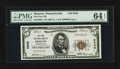 National Bank Notes:Pennsylvania, Moscow, PA - $5 1929 Ty. 1 The First NB Ch. # 9340. ...
