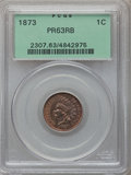 Proof Indian Cents, 1873 1C Closed 3 PR63 Red and Brown PCGS. PCGS Population (42/180).NGC Census: (16/131). Mintage: 1,100. Numismedia Wsl. P...
