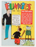 Platinum Age (1897-1937):Miscellaneous, The Funnies #5 (Dell, 1937) Condition: GD/VG....