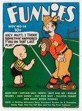 Platinum Age (1897-1937):Miscellaneous, The Funnies #14 (Dell, 1937) Condition: FR....