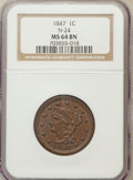Large Cents: , 1847 1C MS64 Brown NGC. N-24. NGC Census: (93/72). PCGS Population(36/11). Mintage: 6,183,669. Numismedia Wsl. Price for ...