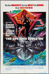 "The Spy Who Loved Me (United Artists, 1977). One Sheet (27"" X 41"") & Program (9"" X 23""). Jam..."