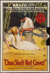 "Thou Shalt Not Covet (Selig, 1916). One Sheet (28"" X 41""). Drama"