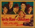 "Movie Posters:Action, Torchy Blaine in Chinatown (Warner Brothers, 1939). Half Sheet (22""X 28"") Style B. Action.. ..."