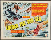"Under the Red Sea (RKO, 1952). Half Sheet (22"" X 28"") Style B. Documentary"