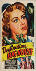"Movie Posters:Crime, Destination Big House (Republic, 1950). Three Sheet (41"" X 81"").Crime.. ..."