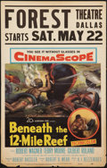 "Movie Posters:Adventure, Beneath the 12-Mile Reef (20th Century Fox, 1953). Window Card (14""X 22""). Adventure.. ..."