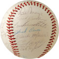 Autographs:Baseballs, 1962 Milwaukee Braves Team Signed Baseball. In 1962 Birdie Tebbetstook over as sole skipper of the Milwaukee Braves after ...